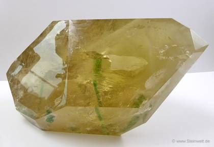 Citrine with Tourmaline