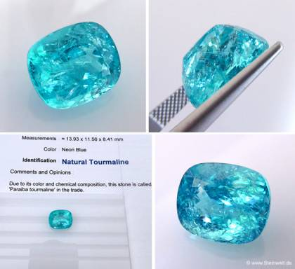 Paraiba Turmalin 10.31ct