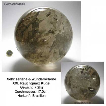 Smoky Quartz Sphere Ball